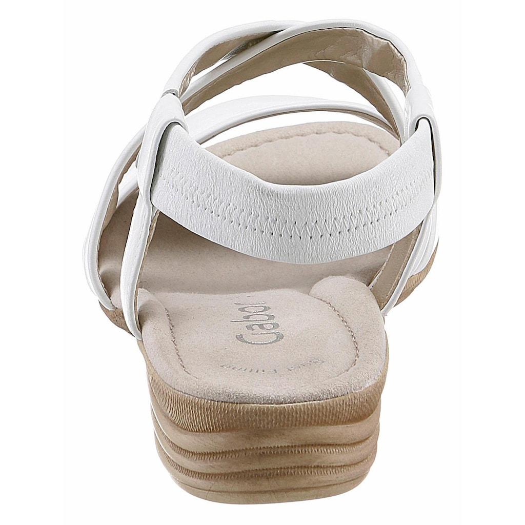 Gabor Riemchensandale, mit softem Bandagen