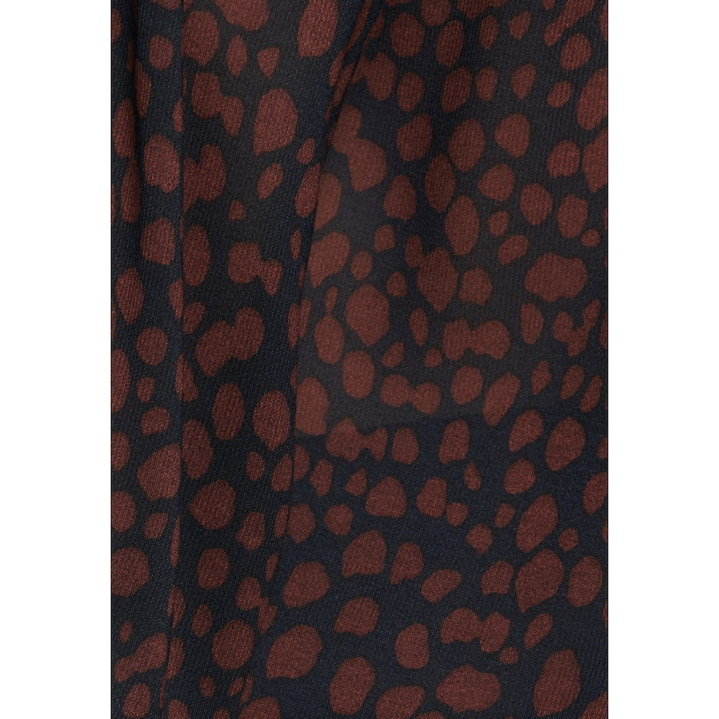seidensticker Wickelbluse »Schwarze Rose«, Langarm V-Neck Druck