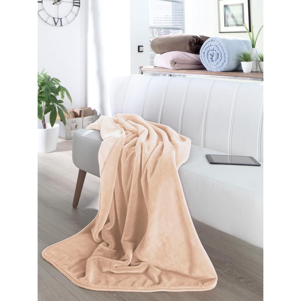 BIEDERLACK Wohndecke »Pure Soft«, mit besonders weicher Oberfläche
