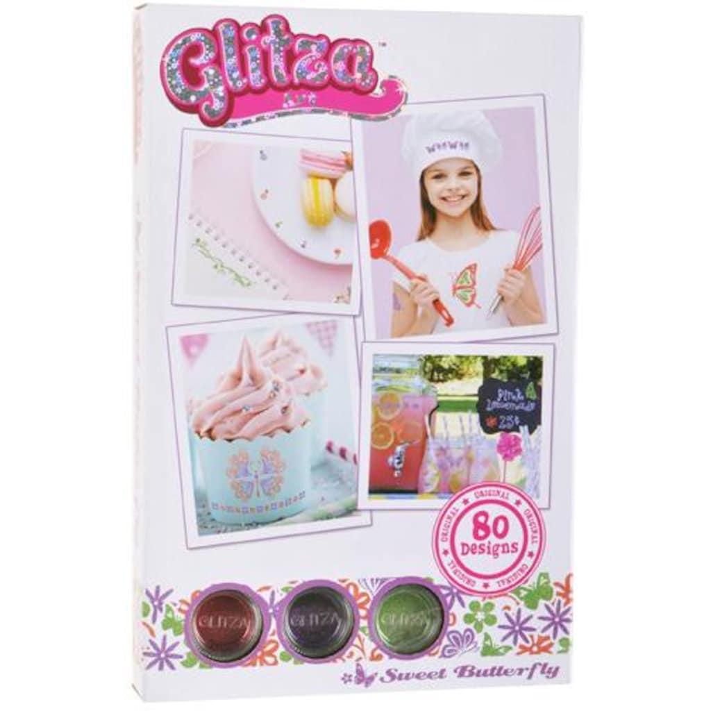 Knorrtoys® Kreativset »GLITZA Starter Set Sweet Butterfly«, (Set), Für alle Oberflächen geeignet