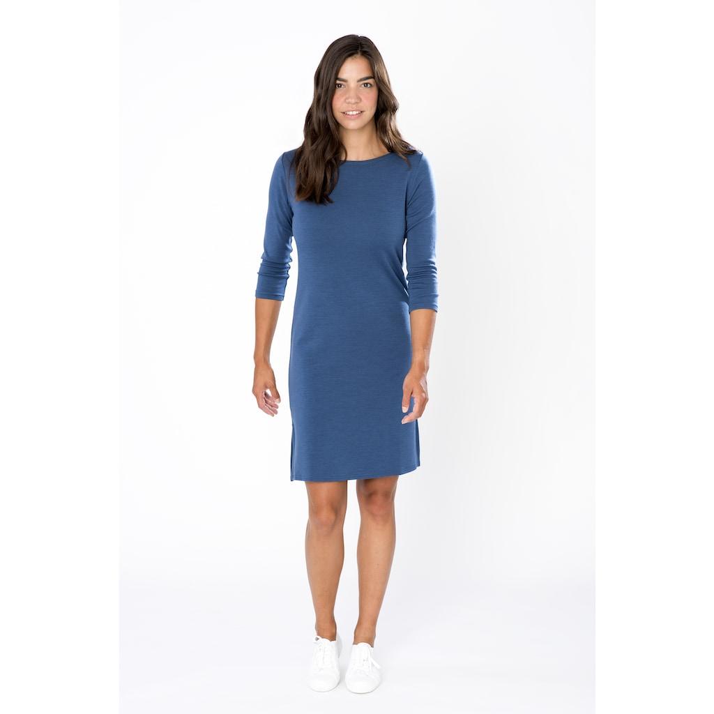 SUPER.NATURAL Sweatkleid »W COZY DRESS«, bequemer Merino-Materialmix