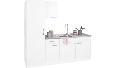 wiho Küchen Küchenblock »Kiel«, Breite 190 cm, mit 28 mm starker Arbeitsplatte, Tiefe 50 cm kaufen