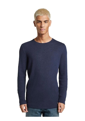 TOM TAILOR Denim Strickpullover, mit dezenter Struktur kaufen