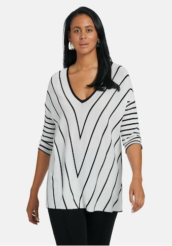 Emilia Lay 3/4 Arm-Pullover »V-Pullover mit 3/4-Arm«, und Kontrastverarbeitung kaufen