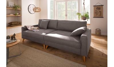 Home affaire Big-Sofa »Stanza«, incl. 2 Zierkissen und Keder, moderne Holzfüße, B/T/H:... kaufen