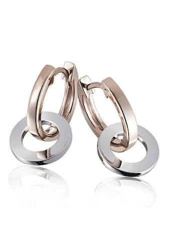 goldmaid Paar Creolen Ringe Bicolor 375/- Gold kaufen