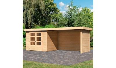 KARIBU Set: Gartenhaus »Arnis 3«, BxT: 529x238 cm, mit Anbaudach kaufen