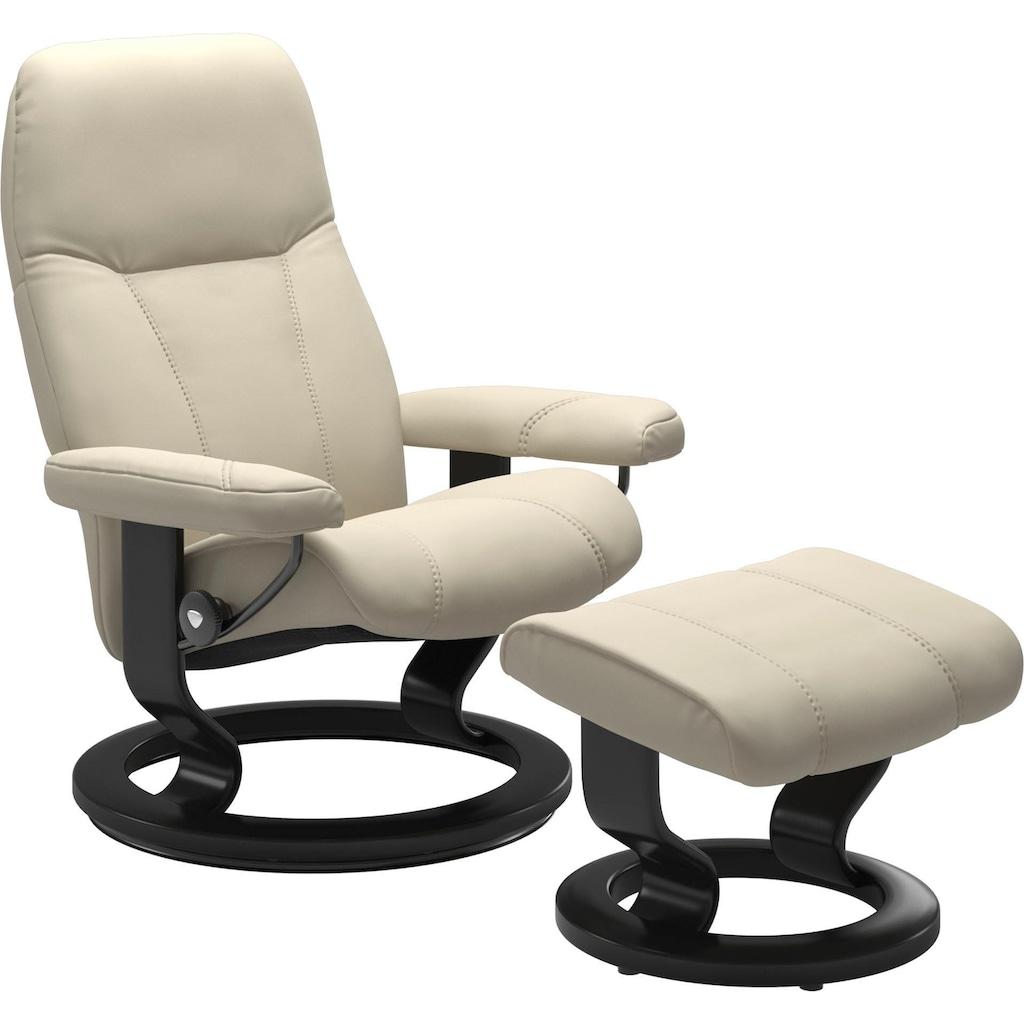 Stressless® Relaxsessel »Consul«, mit Hocker, mit Classic Base, Größe M, Gestell Schwarz