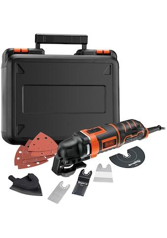 Black + Decker Elektro-Multifunktionswerkzeug »MT300KA«, 300 W, inkl. Zubehör und Koffer kaufen