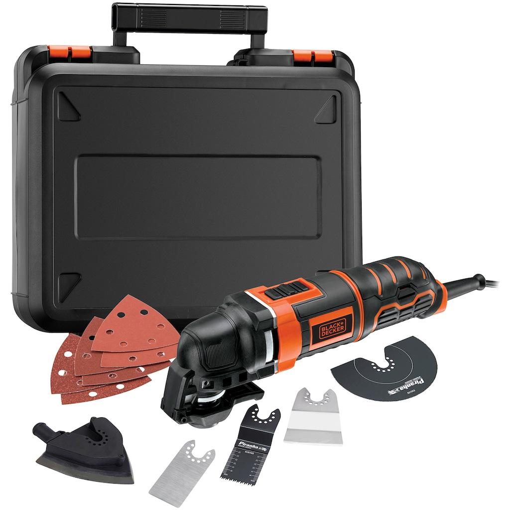 Black + Decker Elektro-Multifunktionswerkzeug »MT300KA«, 300 W, inkl. Zubehör und Koffer