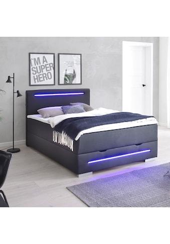 meise.möbel Boxspringbett, mit LED-Beleuchtung, Bettkasten, USB-Anschluss und Topper kaufen