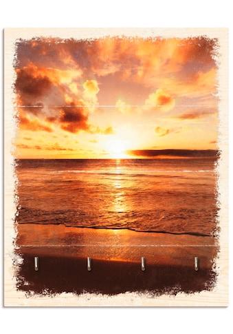 Artland Schlüsselbrett »Schöner Sonnenuntergang Strand« kaufen