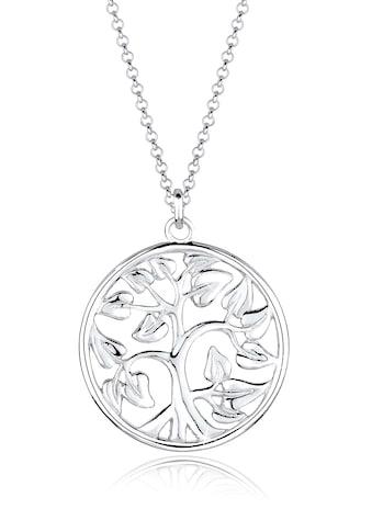 Elli Kette mit Anhänger »Tree of Life Lebensbaum Floral 925 Silber« kaufen