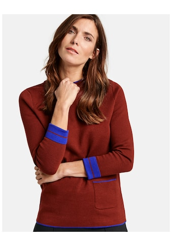 GERRY WEBER Pullover Langarm Rundhals »Doubleface Pullover« kaufen