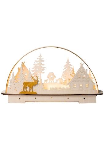 SAICO Original LED - Lichterbogen Waldhaus für Batteriebetrieb mit Timer kaufen