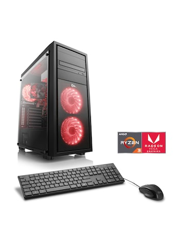 CSL Gaming PC | Ryzen 3 2200G | Radeon Vega 8 | 8 GB DDR4 | SSD »Sprint T8390 Windows 10 Home« kaufen
