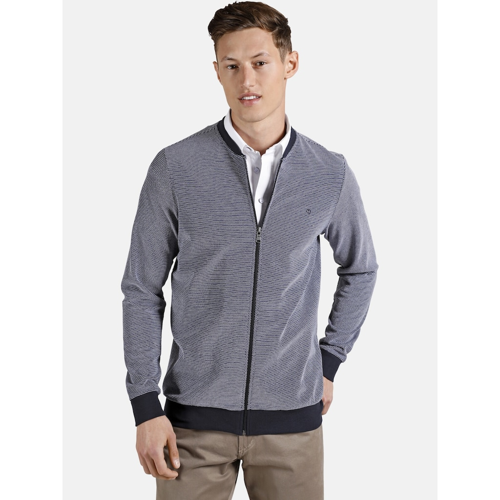 Charles Colby Sweatjacke »EARL CLIFFORD«, aus two-tone Pikee