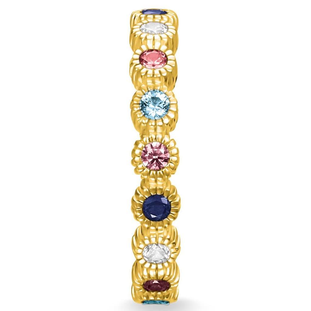 THOMAS SABO Fingerring »Royalty gold, TR2225-959-7-48, 50, 52, 54, 56, 58, 60«, mit Spinell, Zirkonia und Glassteinen