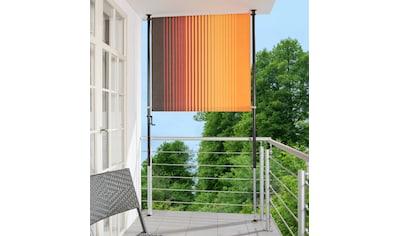 ANGERER FREIZEITMÖBEL Klemm - Senkrechtmarkise »Nr. 100«, orange/braun, BxH: 120x225 cm kaufen