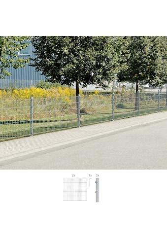 GAH Alberts Doppelstabmattenzaun, 80 cm hoch, 2 Matten für 4 m, 3 Pfosten kaufen