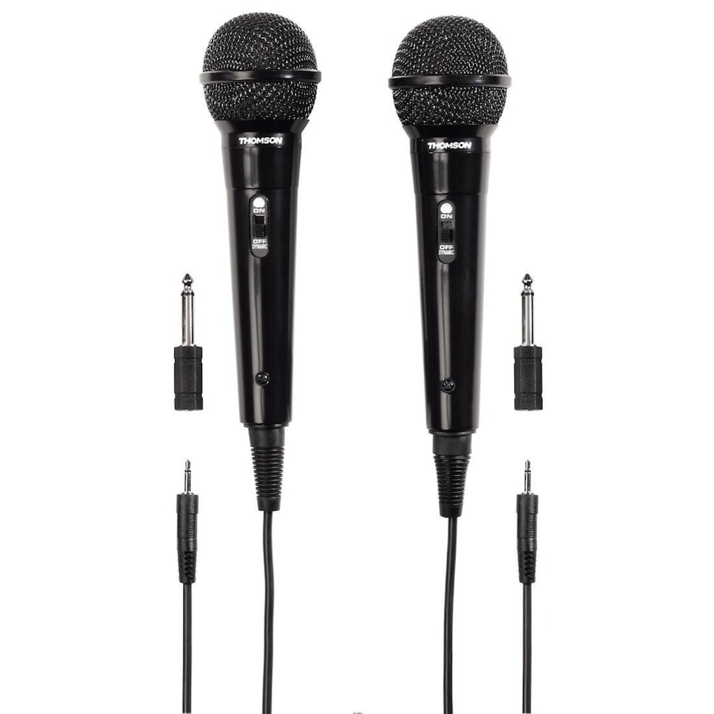 Thomson Dynamisches Mikrofon M135D, Karaoke, 2er Pack, 3,5 mm