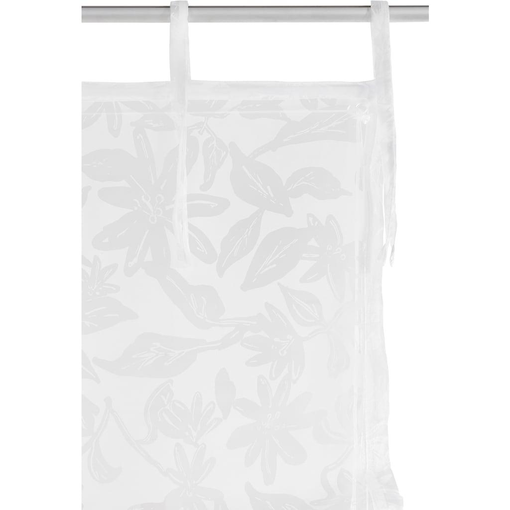Guido Maria Kretschmer Home&Living Raffrollo »Glen«, mit Bindebänder, halbtransparent, gewebt, Ausbrenner