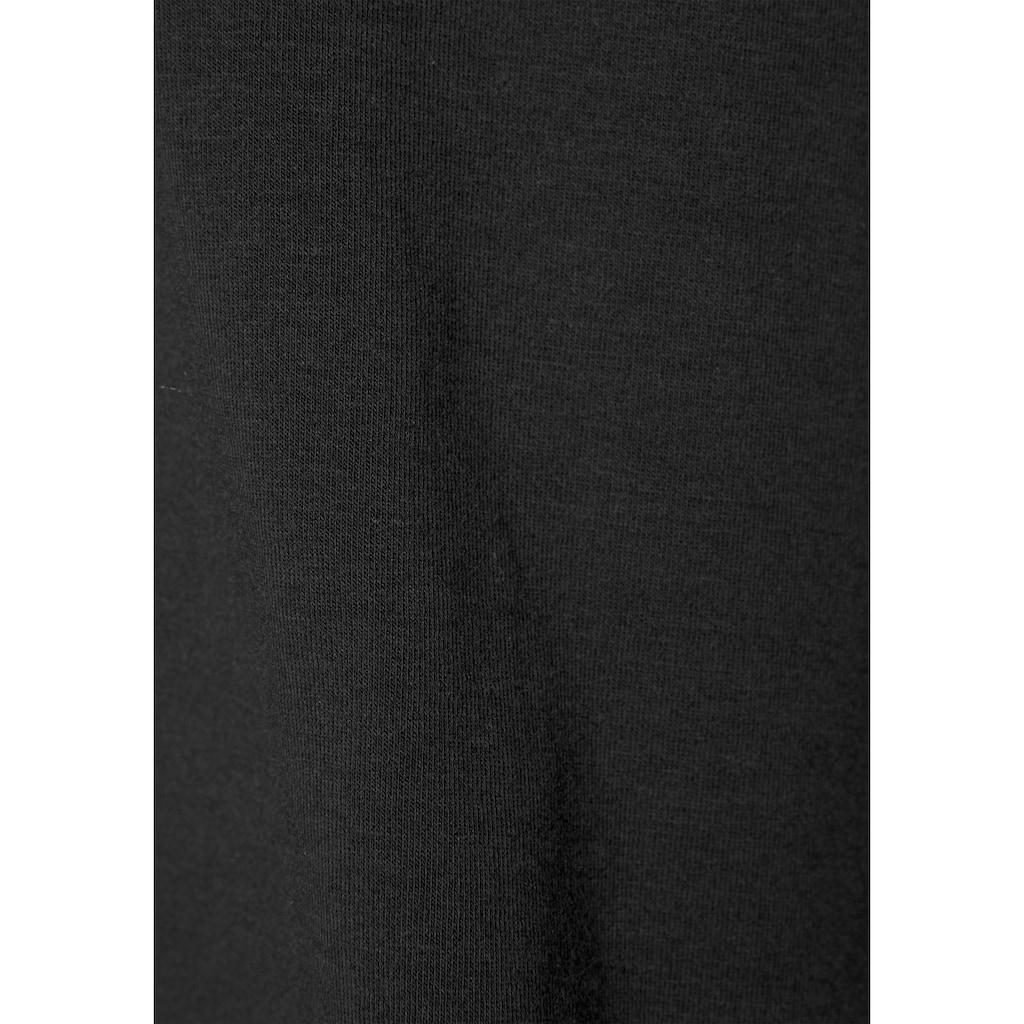 LASCANA Trägertop, mit breitem Spitzeneinsatz und Zierschleife