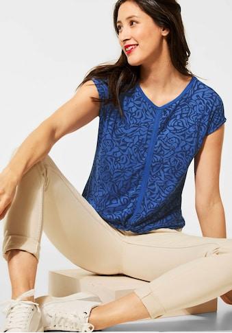 STREET ONE V-Shirt, mit schönem Allover-Muster kaufen