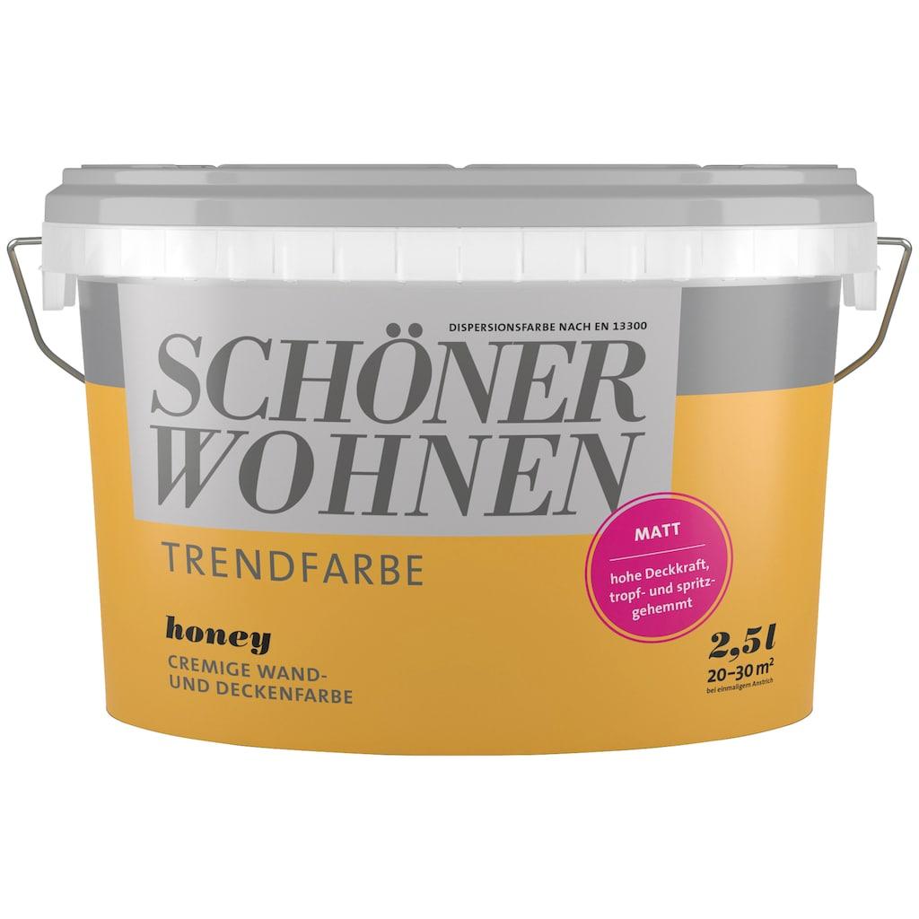 SCHÖNER WOHNEN-Kollektion Wand- und Deckenfarbe »Trendfarbe Honey, matt«, 2,5 l