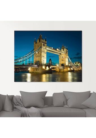 Artland Glasbild »Tower Bridge Abenddämmerung London«, Brücken, (1 St.) kaufen