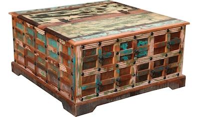 Ploß Couchtisch »Jaipur«, aus recyceltem Altholz, Shabby Chic, Vintage kaufen
