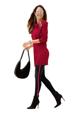 Classic Inspirationen Pullover mit Schmucksteinchen am Ausschnitt kaufen