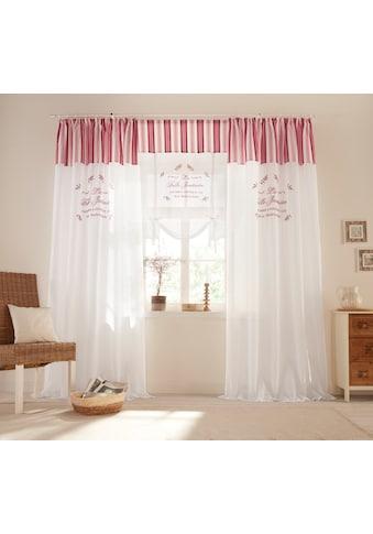 Home affaire Raffrollo »Belle«, mit Stangendurchzug, halbtransparent, Baumwolloptik,... kaufen
