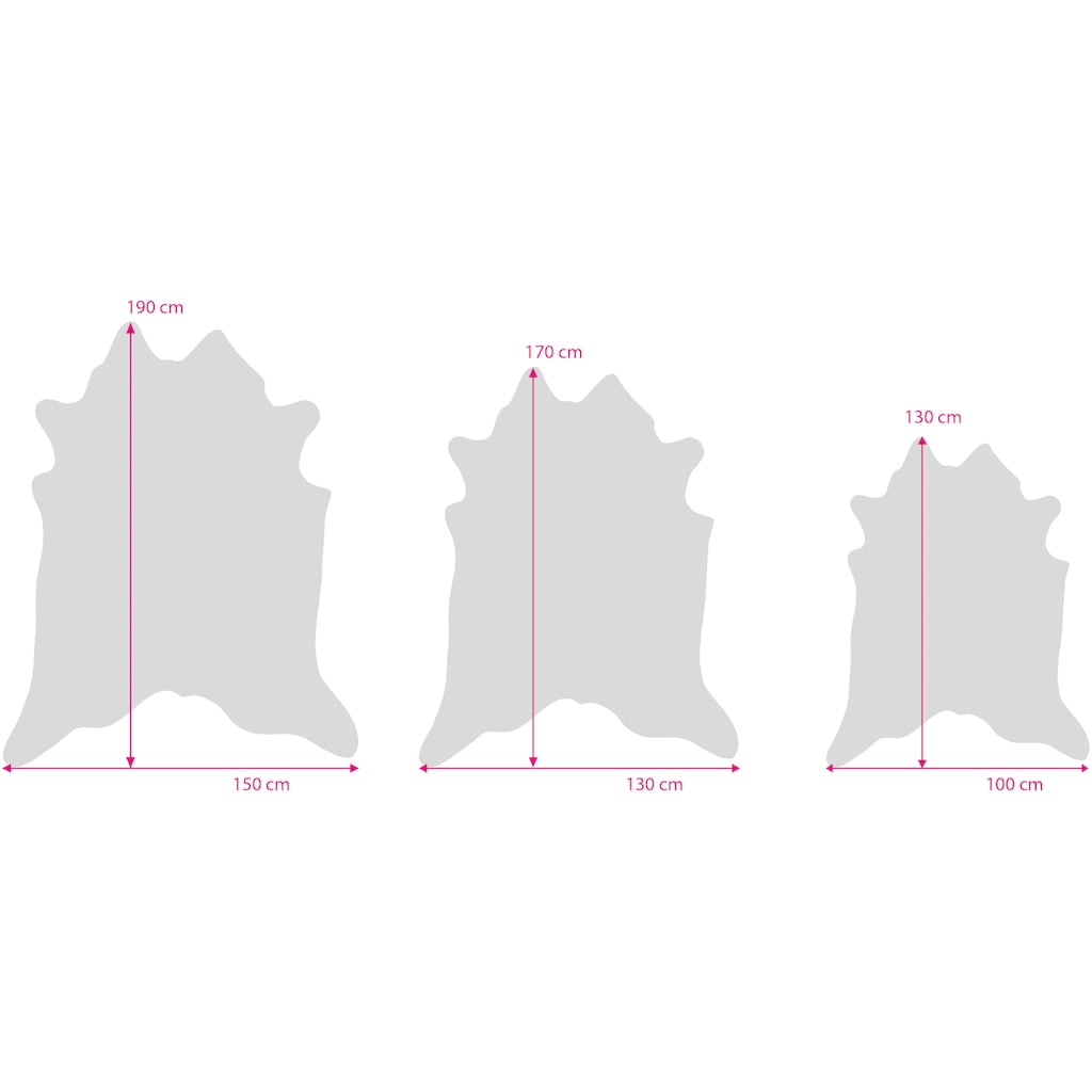 Gino Falcone Fellteppich »Emilia«, fellförmig, 3 mm Höhe, Kunstfell, gedruckte Kuhfell-Optik, Wohnzimmer