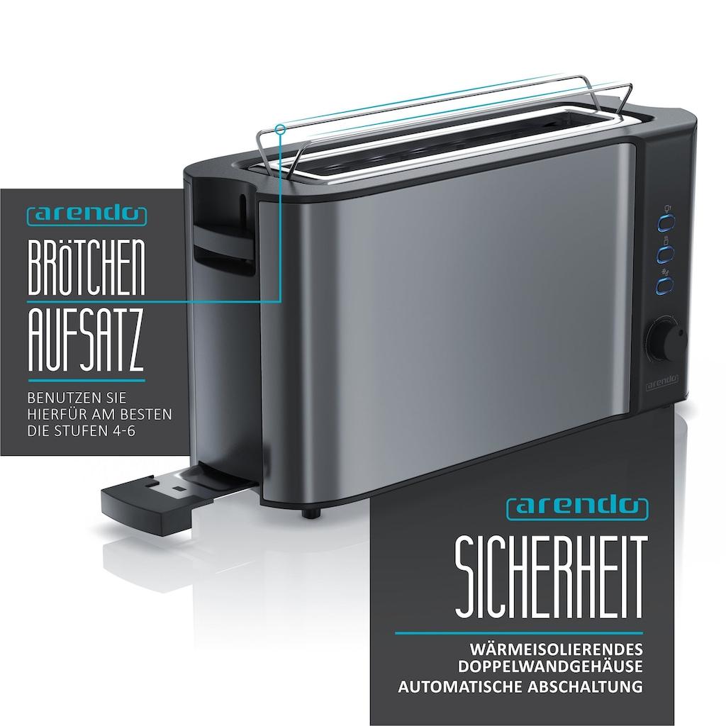 Arendo Frühstücks-Set »Wasserkocher / Toaster / Eierkocher«, 3-teilig in grau