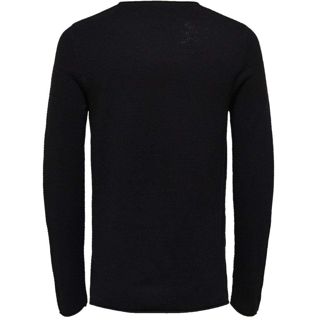 SELECTED HOMME Rundhalspullover »ROCKY CREW NECK«