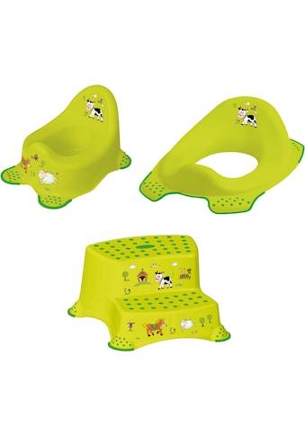 keeeper Töpfchen »Funny Farm«, (Set, 3 tlg.), Kinderpflege-Set - Töpfchen,... kaufen