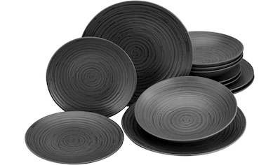 Leonique Tafelservice »Daliah«, (Set, 12 tlg.), robuste, kratzfeste, seidenmatte Glasur kaufen