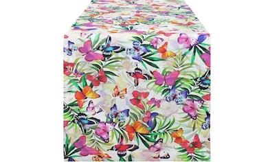 Tischläufer, »32481 Butterfly«, HOSSNER  -  HOMECOLLECTION (1 - tlg.) kaufen