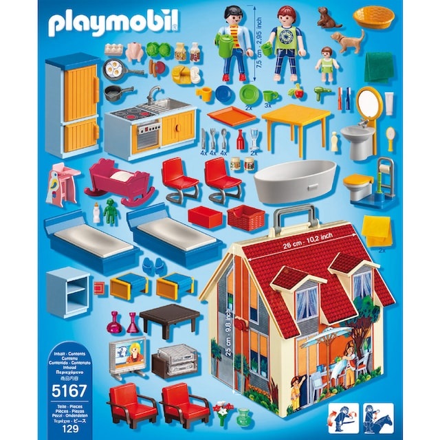 "Playmobil® Konstruktions-Spielset ""Neues Mitnehm-Puppenhaus (5167), Dollhouse"", Kunststoff"