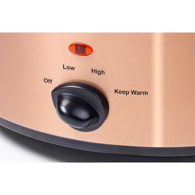bestron Schongarer ASC450CO mit Keramikpfanne und Glasdeckel, 225 Watt