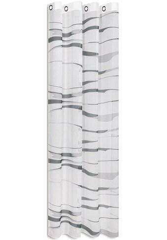 Happy Home Gardine »LIOBA«, HxB: 245x140, modern bedruckter Ösenschal kaufen