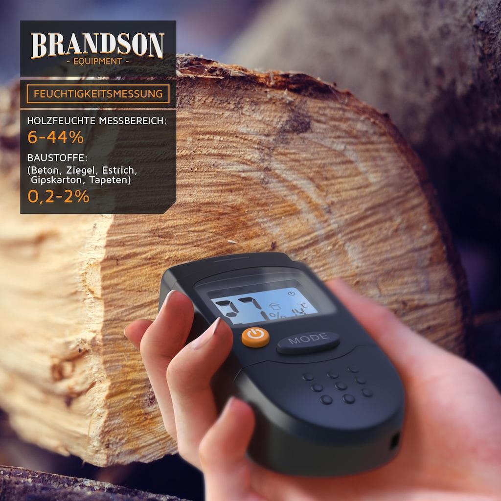 """Brandson Holzfeuchtigkeitsmessgerät »Messbereich 6% - 44% / 1,2"""" LCD-Display«"""