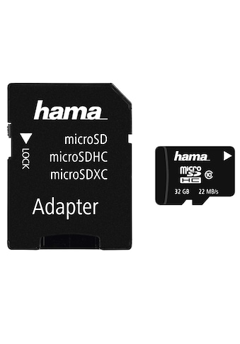 Hama Speicherkarte, (Class 10), 32 GB Class 10, 22 MB/s + Adapter/Foto kaufen