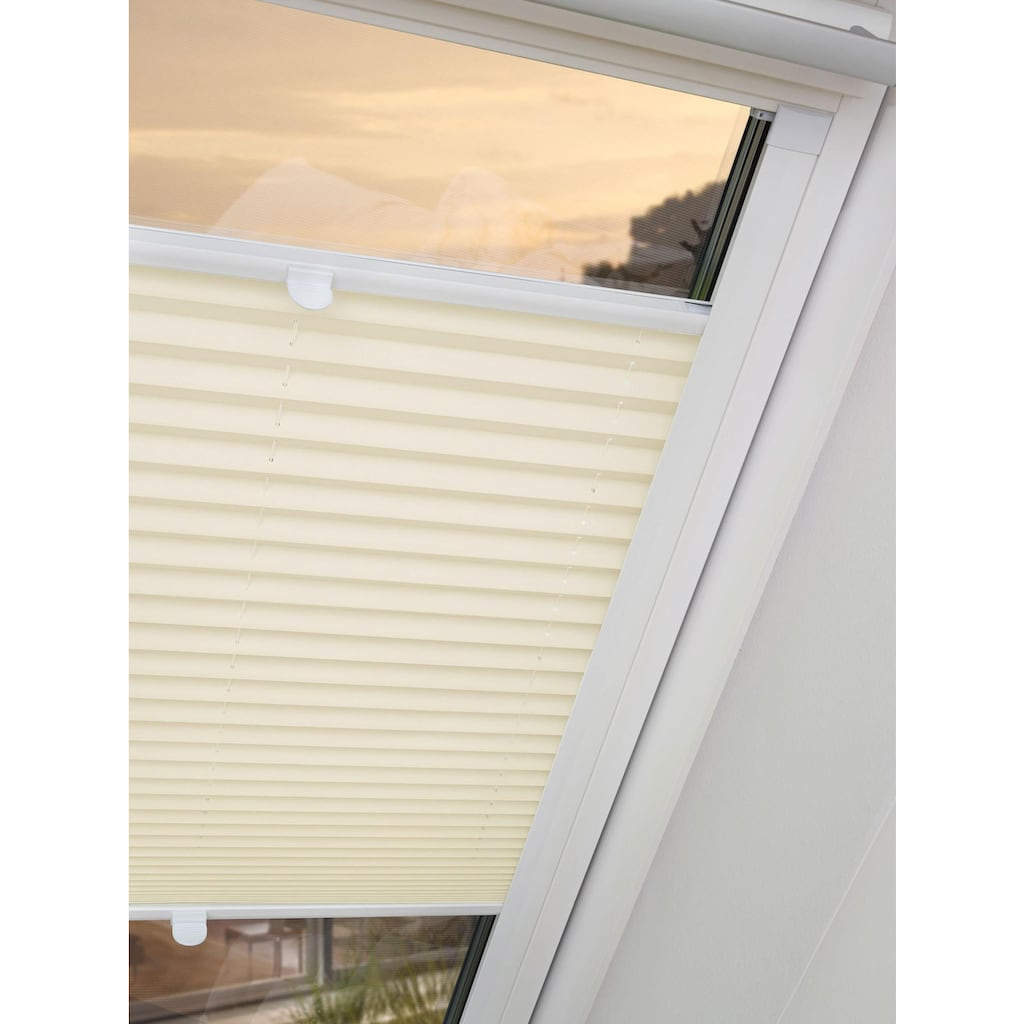 Good Life Dachfensterplissee nach Maß »Dena«, verdunkelnd, energiesparend, mit Bohren, verspannt