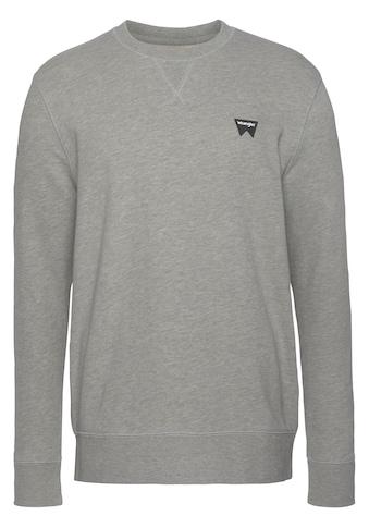 Wrangler Sweatshirt, Logodruck auf der Brust kaufen