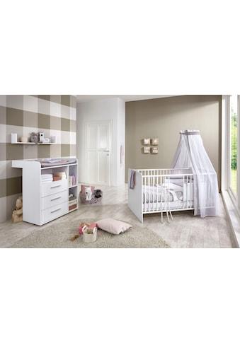 BMG Babymöbel-Set »Luis«, (Set, 3 St.), Bett + Wickelkommode + Wandboard kaufen