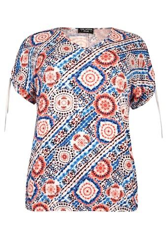 VIA APPIA DUE Extravagante Bluse mit Kaleidoskop-Muster Plus Size kaufen