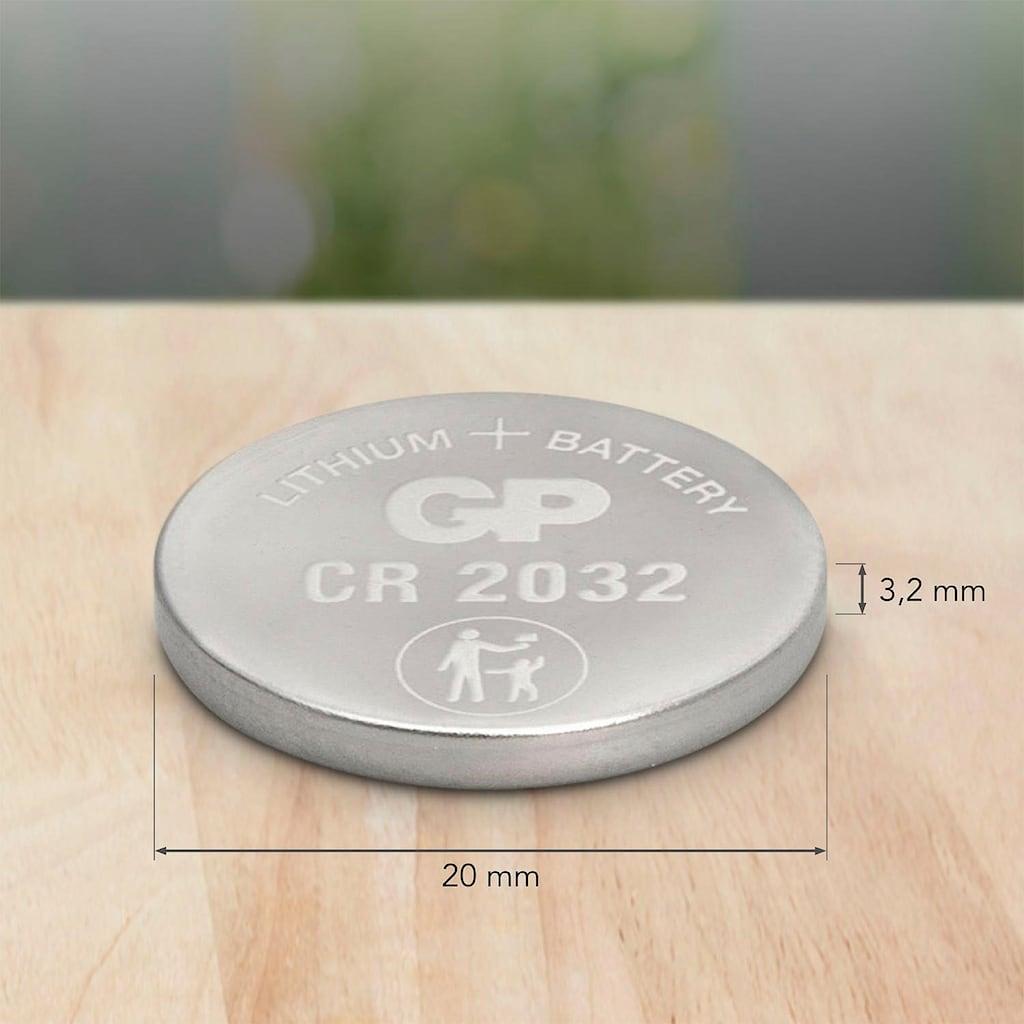 GP Batteries Knopfzelle »CR2032 Lithium«, CR2032, 3 V, (Set, 10 St.)