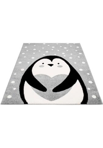 Carpet City Kinderteppich »Bubble Kids 1328«, rechteckig, 11 mm Höhe, Pinguin Kurzflor... kaufen